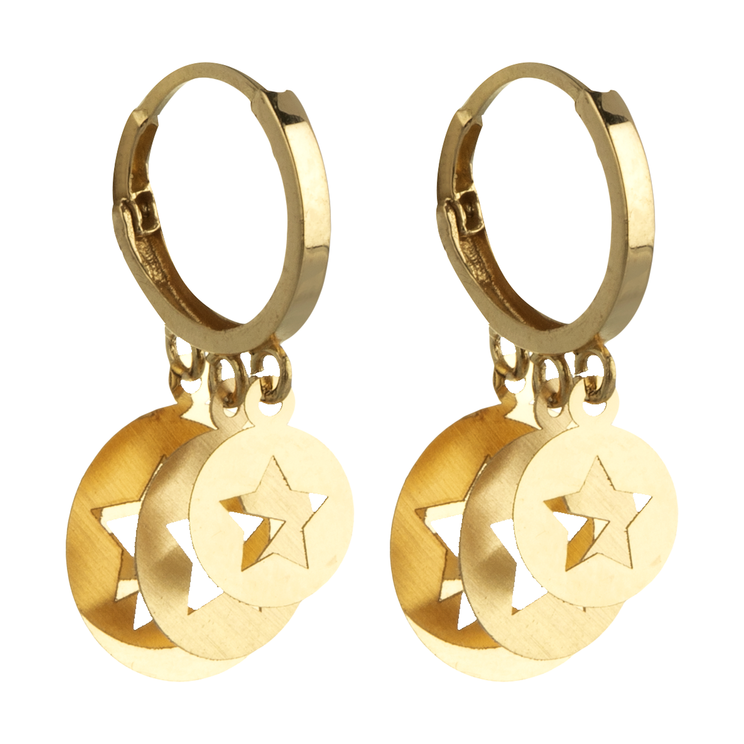 گوشواره طلا 18 عیار زنانه گالری یارطلا کد AG27-9