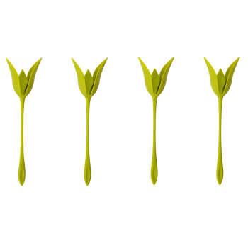 نگهدارنده دستمال سفره طرح گل رز بسته 4 عددی