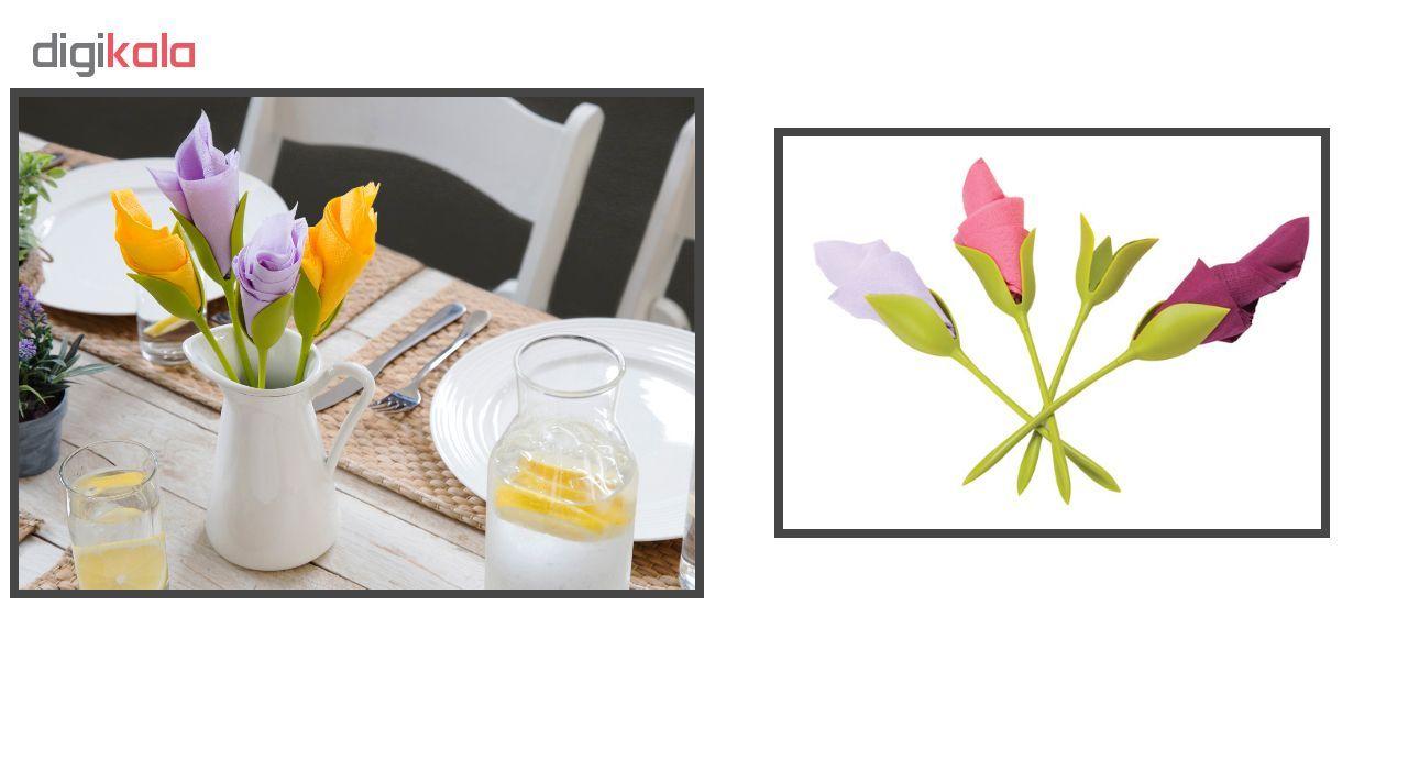 نگهدارنده دستمال سفره طرح گل رز بسته 4 عددی main 1 1
