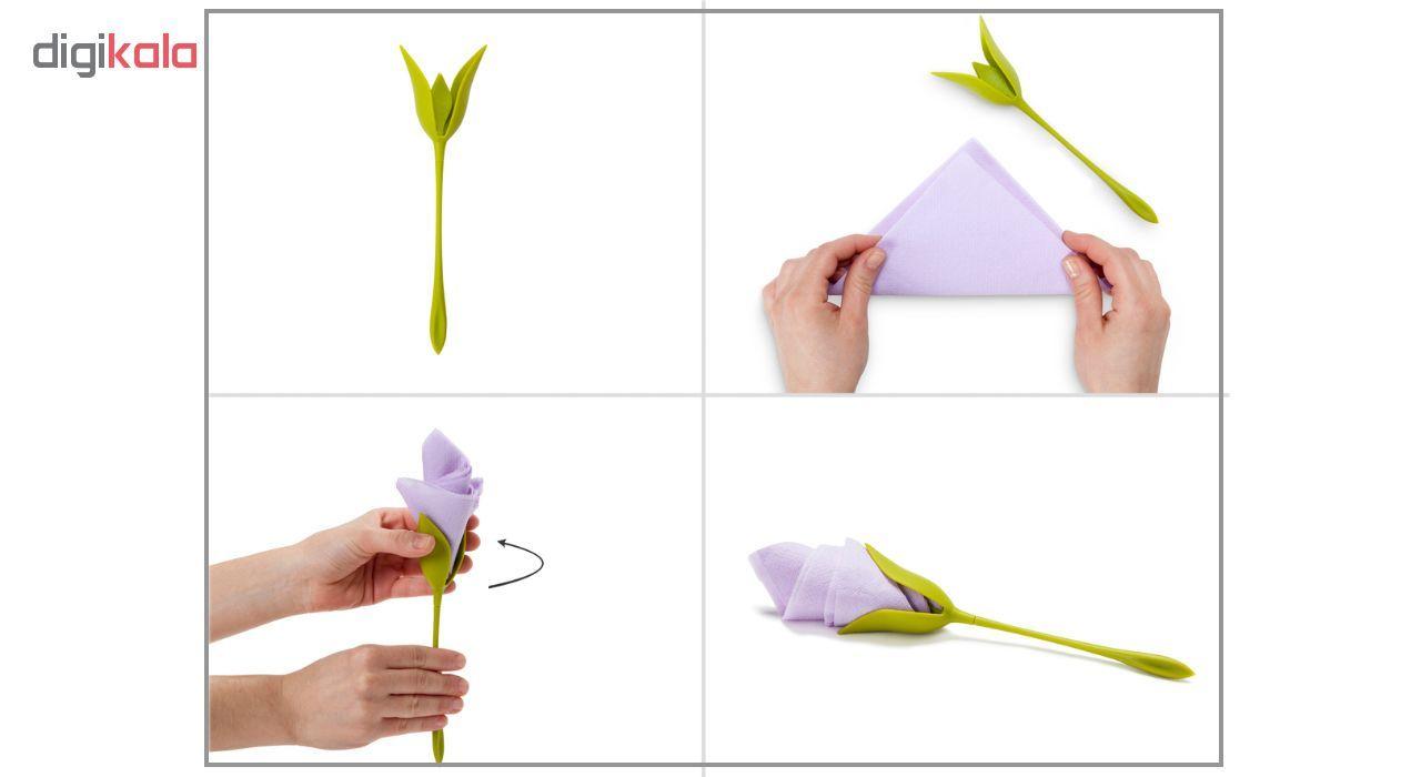 نگهدارنده دستمال سفره طرح گل رز بسته 4 عددی main 1 3