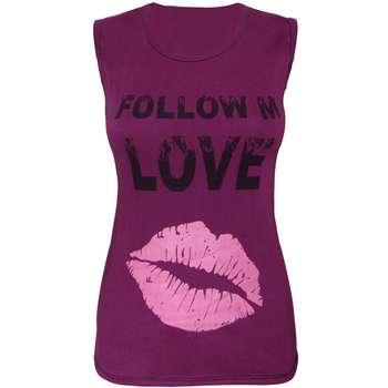 تاپ زنانه مدل Love-Purple |