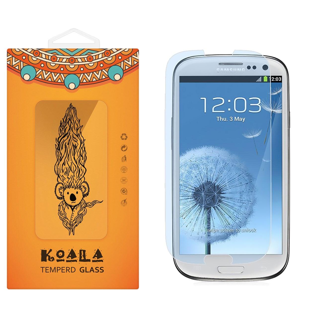 محافظ صفحه نمایش شیشه ای کوالا مدل Tempered مناسب برای گوشی موبایل سامسونگ Galaxy S3