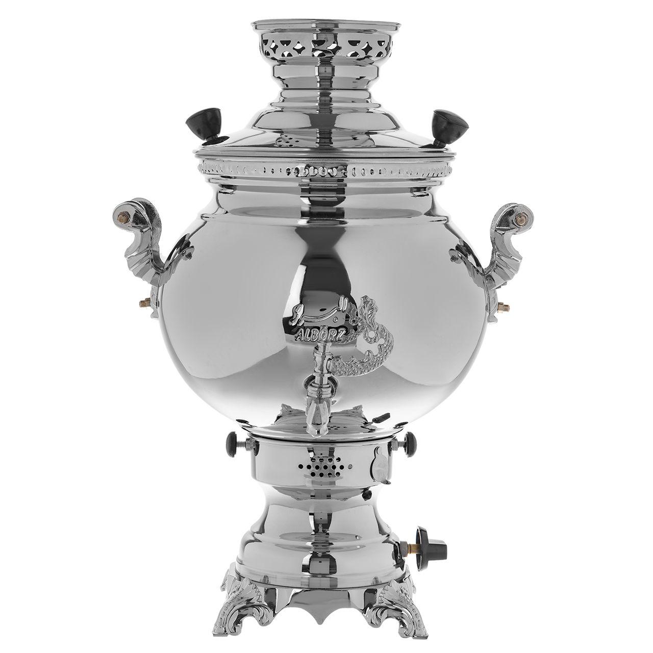 سماور گازسوز البرز مدل صدفی ظرفیت 8 لیتر