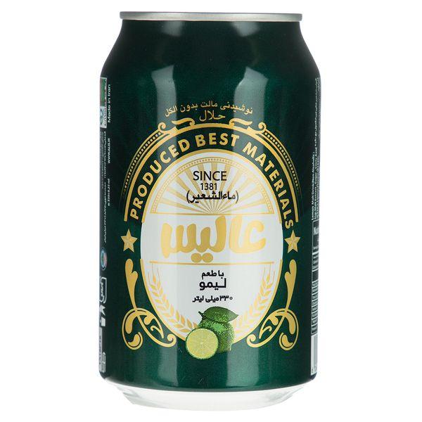 نوشیدنی مالت عالیس با طعم لیمو مقدار 330 میلی لیتر