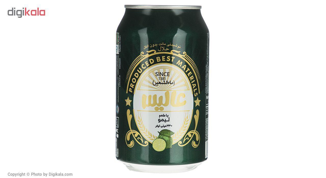 نوشیدنی مالت عالیس با طعم لیمو مقدار 330 میلی لیتر main 1 1
