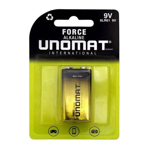 باتری 9V یونومات مدل Force Alkalin