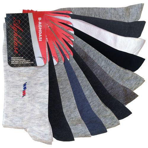 جوراب مردانه اقدسی کد 200 مجموعه 12 عددی