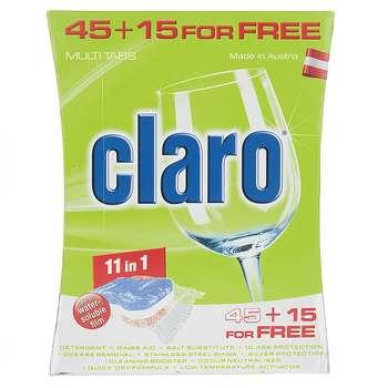 قرص ظرفشویی کلارو مدل 11in1 بسته 60 عددی