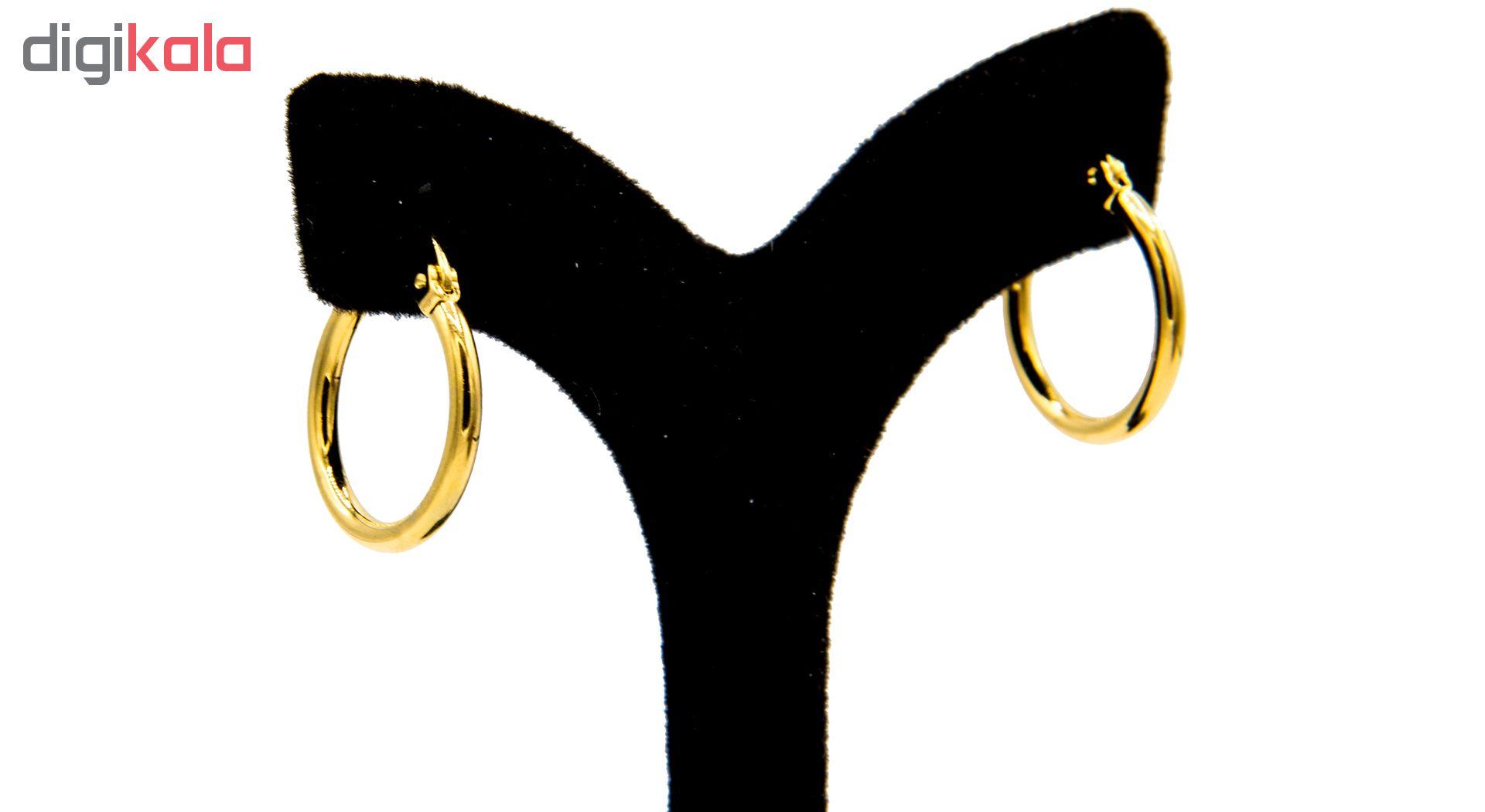 گوشواره بهارگالری مدل تک حلقه کد 15