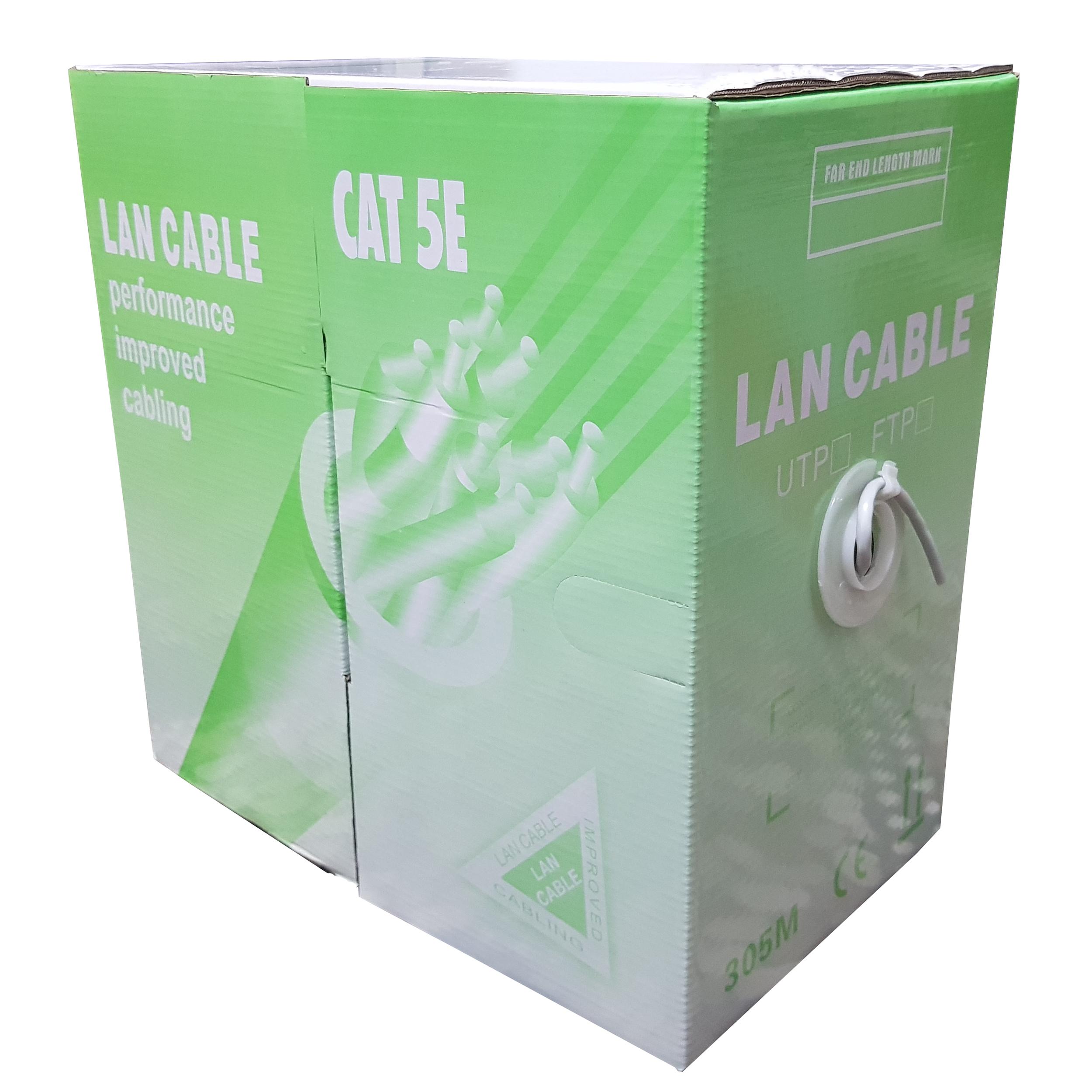 کابل شبکه Cat 5E مدل Lane Cable به طول 305 متر |