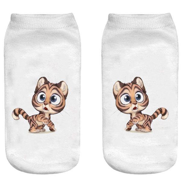 جوراب بچگانه طرح گربه کد o35 -  - 3