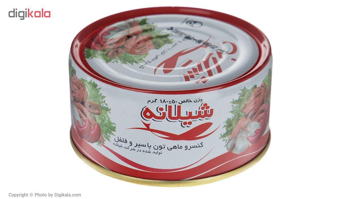 کنسرو ماهی تون با سیر و فلفل شیلانه -180 گرم main 1 1