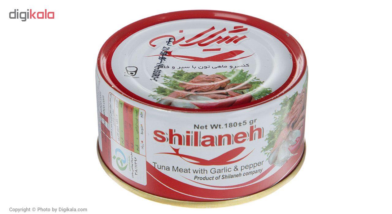 کنسرو ماهی تون با سیر و فلفل شیلانه مقدار 180 گرم