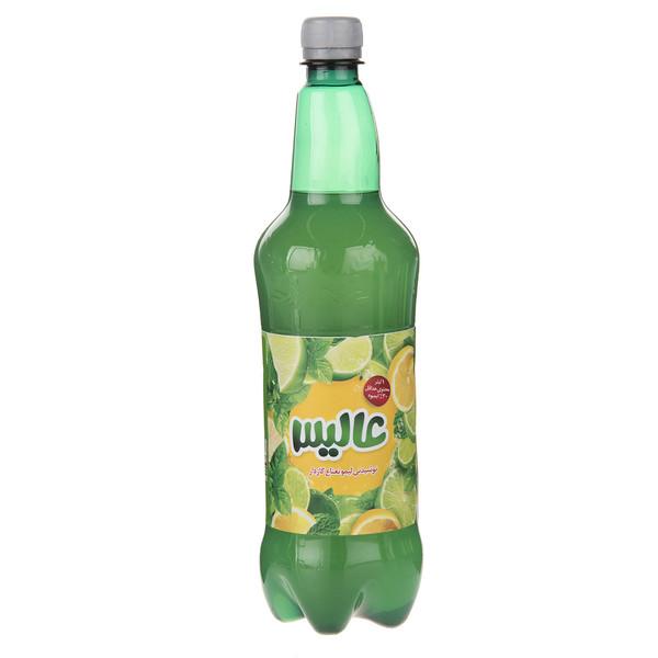 نوشیدنی لیمو نعناع گازدار عالیس - 1 لیتر