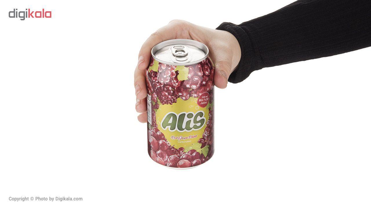 نوشیدنی انگور قرمز گازدار عالیس - 330 میلی لیتر main 1 1