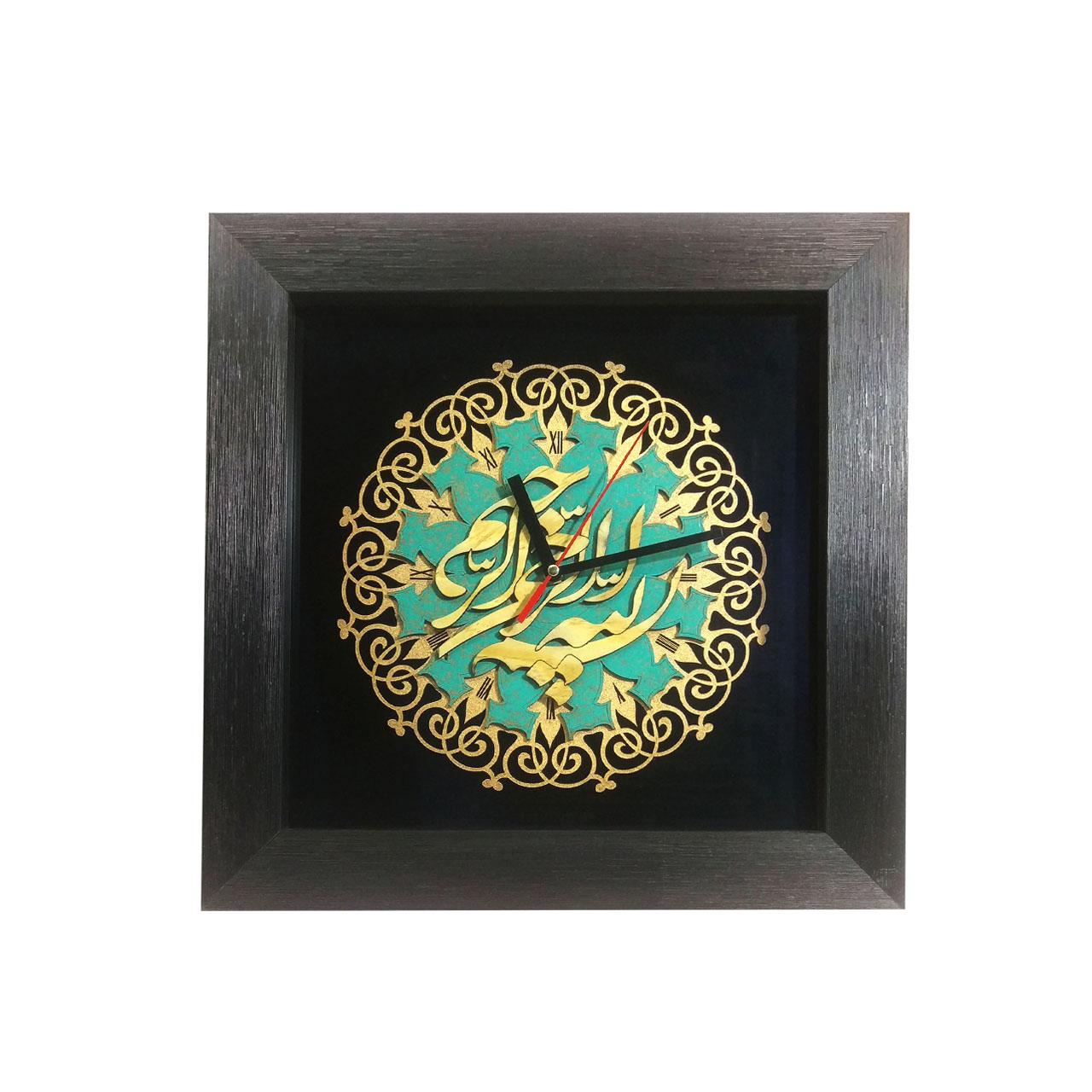 تابلو ساعت لوح هنر مدل بسم الله کد 793