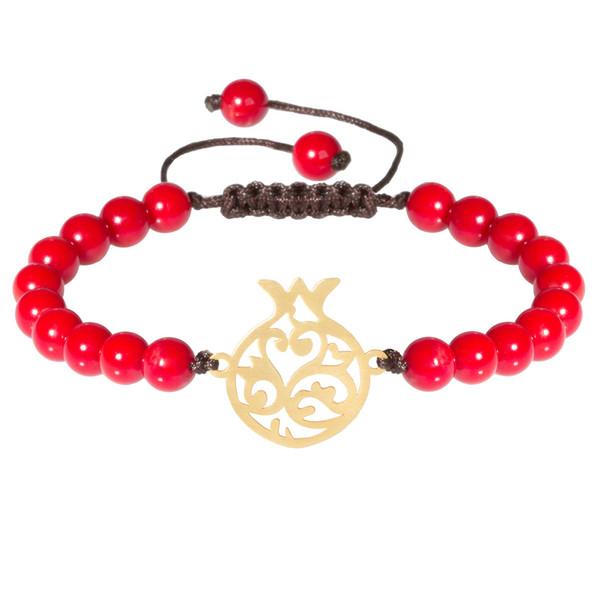 دستبند طلا 18 عیار زنانه اقلیمه کد DT341