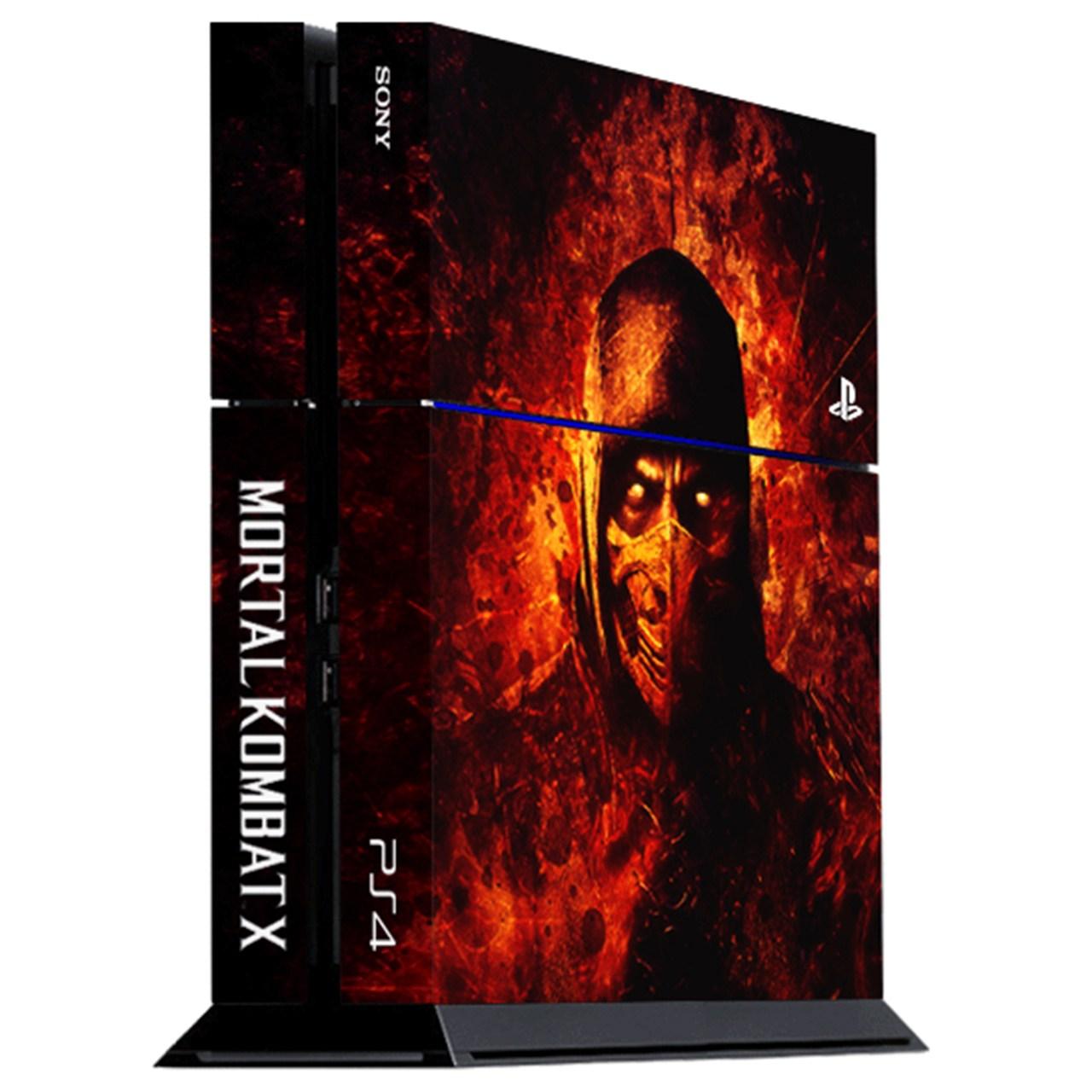 برچسب عمودی پلی استیشن 4 ونسونی طرح Mortal Kombat