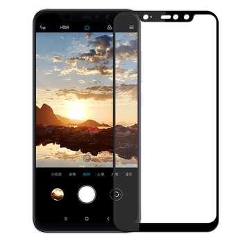 محافظ صفحه نمایش شیشه ای مدل Full مناسب برای گوشی موبایل شیاومی Redmi Note 6 Pro