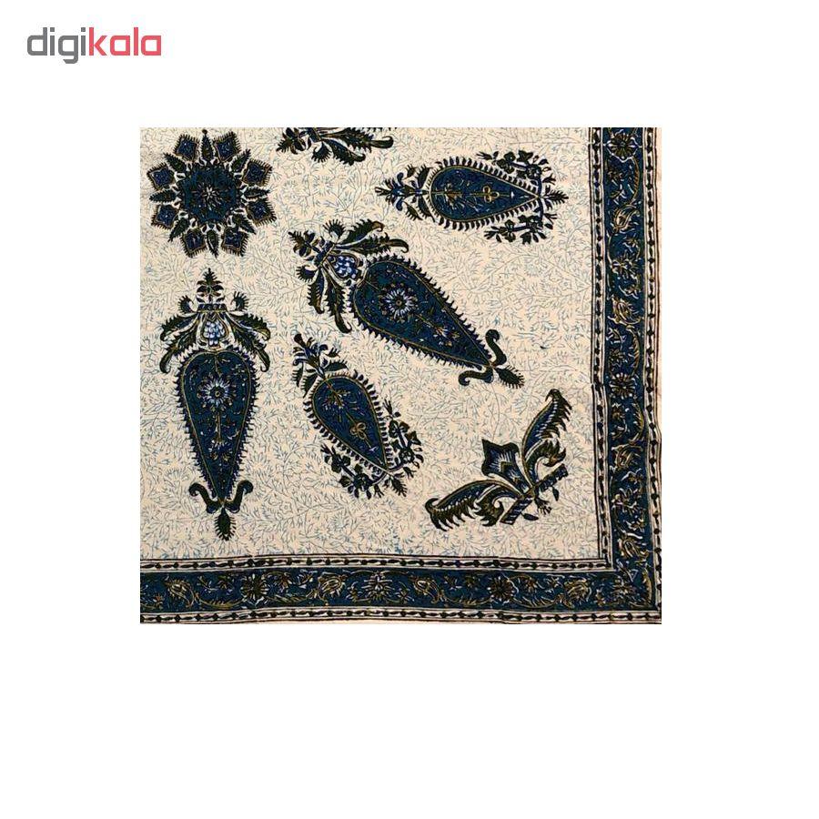 رومیزی قلمکار ممتاز اصفهان اثر عطريان طرح خورشیدی مدلG132 سايز 80*80