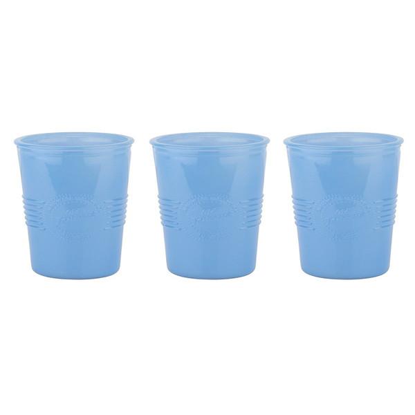 لیوان تانتی تونی مدل opaque blue بسته 3 عددی