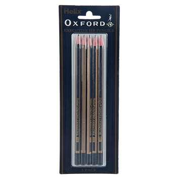 مداد هیلکس آکسفورد مدل Executive با درجه سختی نوک HB کد P60010  بسته پنج عددی