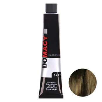 رنگ مو دوماسی سری تنباکویی شماره 6.08 حجم 120 میلی لیتر رنگ قهوه ای تنباکویی تیره