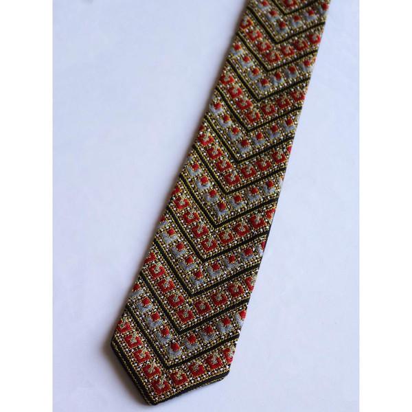 کراوات دست دوز شیک دوچ مدل سوزن دوزی