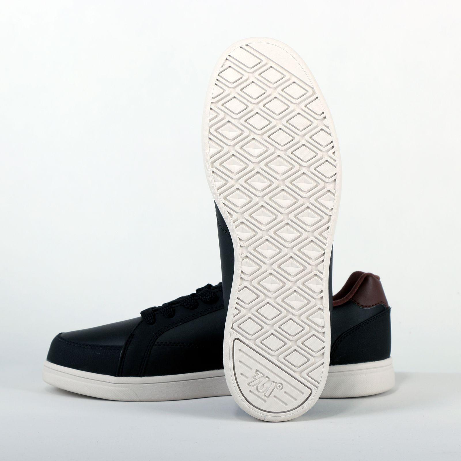 کفش راحتی مردانه 361 درجه مدل 571446631 رنگ قهوه ای تیره -  - 6