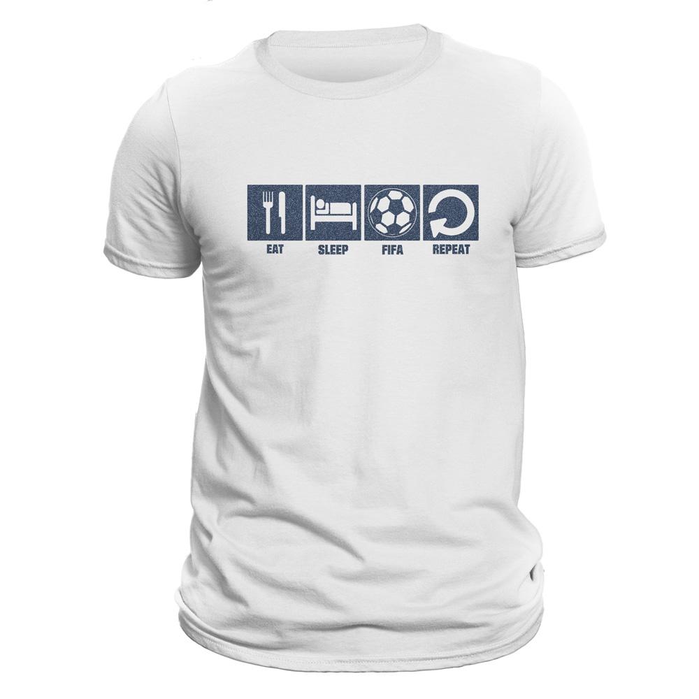 تیشرت مردانه فروشگاه دی سی کد DC-13237 طرح فیفا - بازی فوتبال ۲۰۱۹