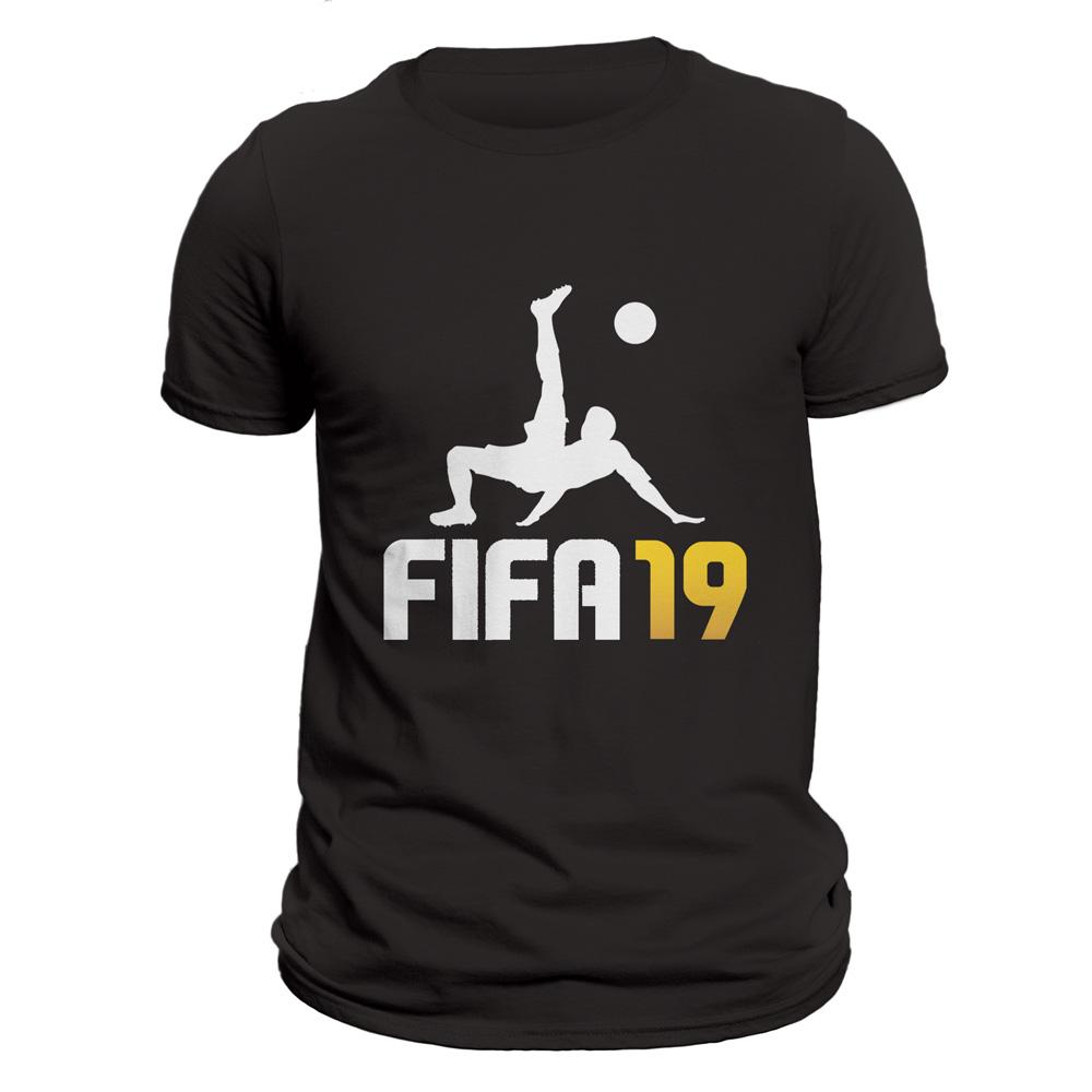 تیشرت مردانه کد 13204 طرح فیفا۱۹ - بازی فوتبال ۲۰۱۹ -  فیفا ۱۹