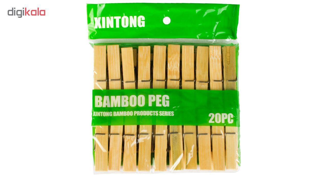 گیره لباس بامبو پگ کد 152 بسته 20 عددی main 1 2