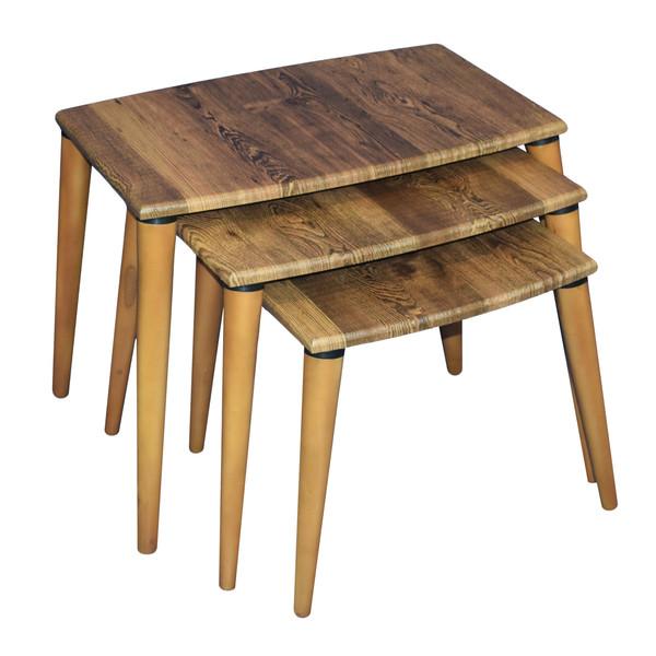میز عسلی مدل AD05 بسته 3 عددی