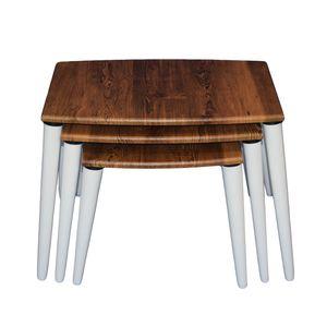 میز عسلی مدل AD06 بسته 3 عددی