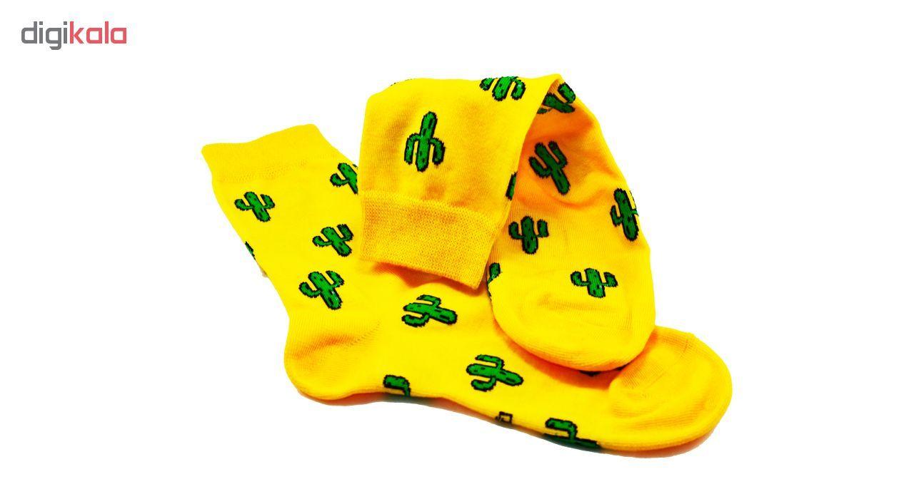 جوراب زنانه پاتریس طرح کاکتوس -  - 6