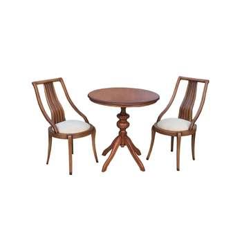 ست میز و صندلی ناهار خوری 2نفره اسپرسان چوب مدل  k13 |