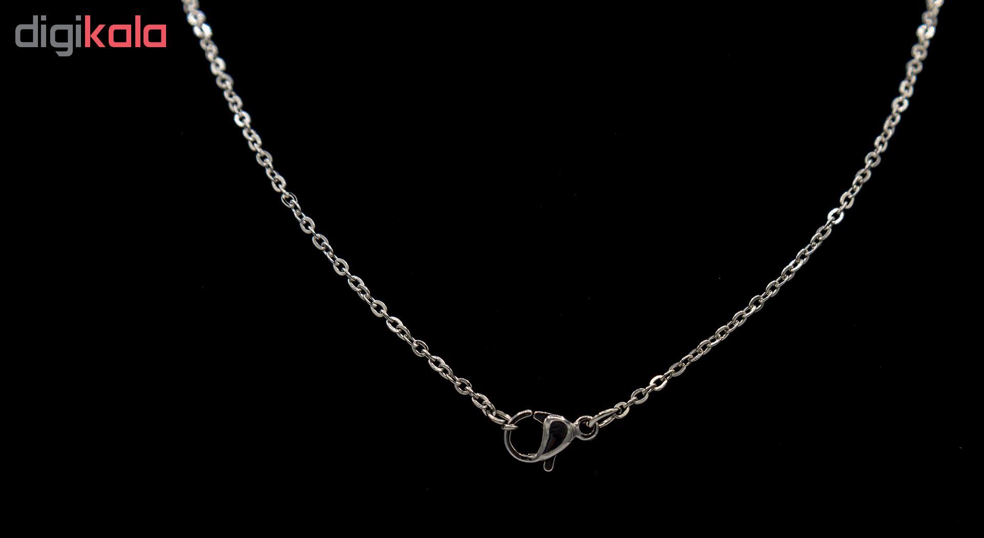 زنجیر بهارگالری مدل Silver Diplomat کد 44