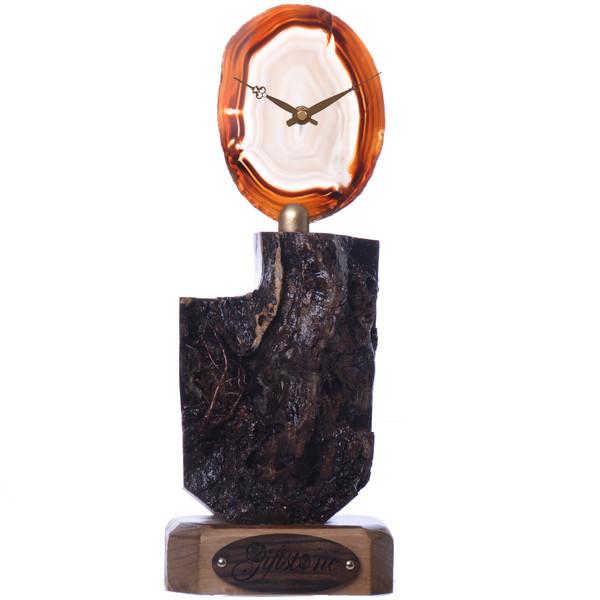 ساعت رومیزی گیفتاستون مدل GS walnut2045