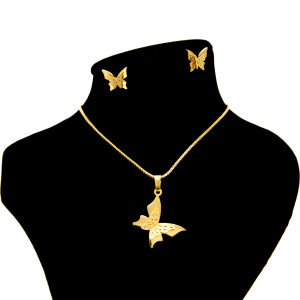نیم ست بهارگالری مدل Golden Butterfly کد G209025