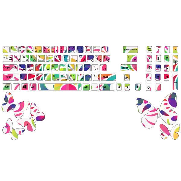 استیکر کیبورد صالسو آرت طرح keyboard m66 hk