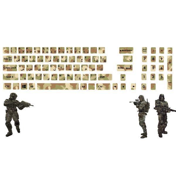 استیکر کیبورد صالسو آرت طرح keyboard m67 hk