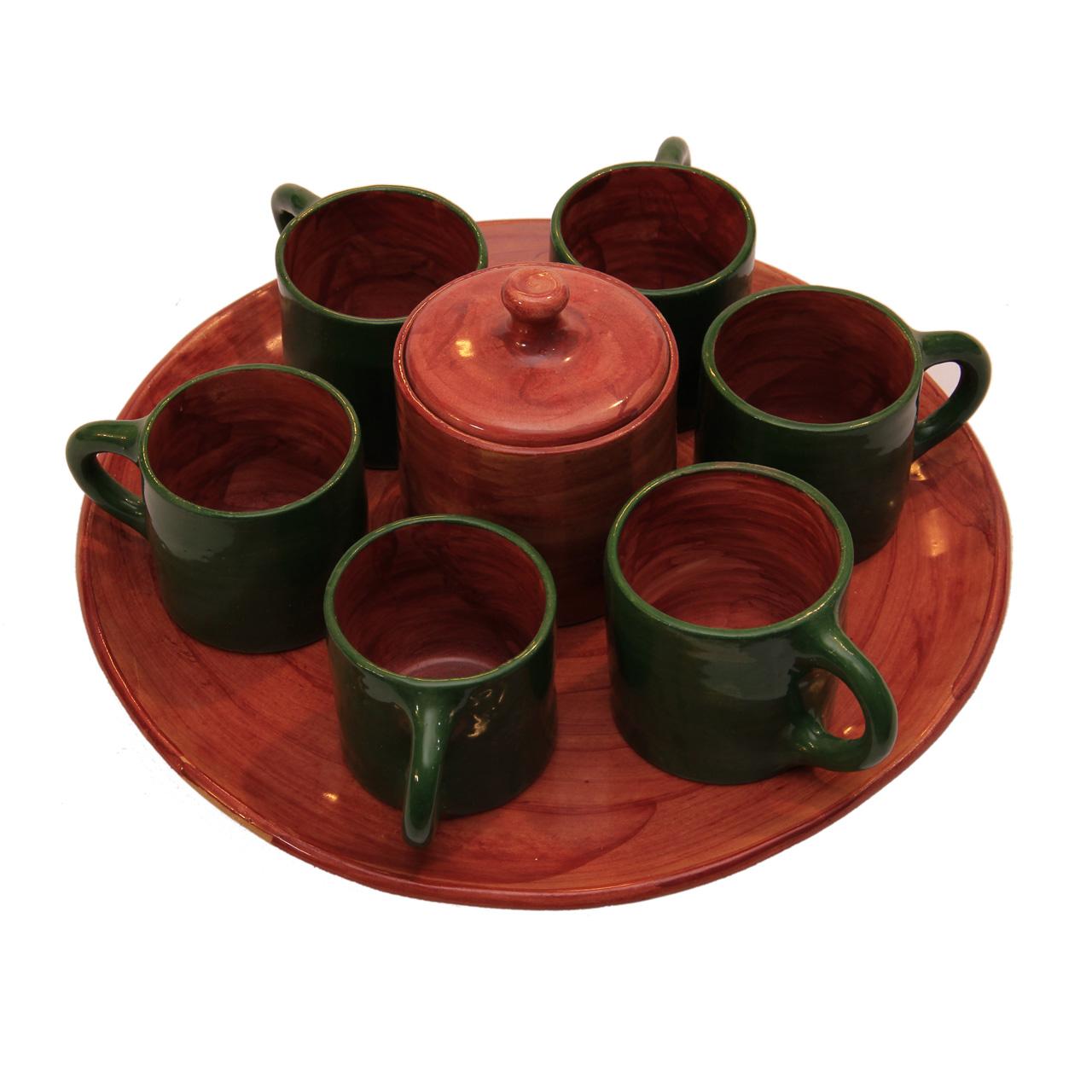 ست چای خوری سفالی کد 20284 6 نفره