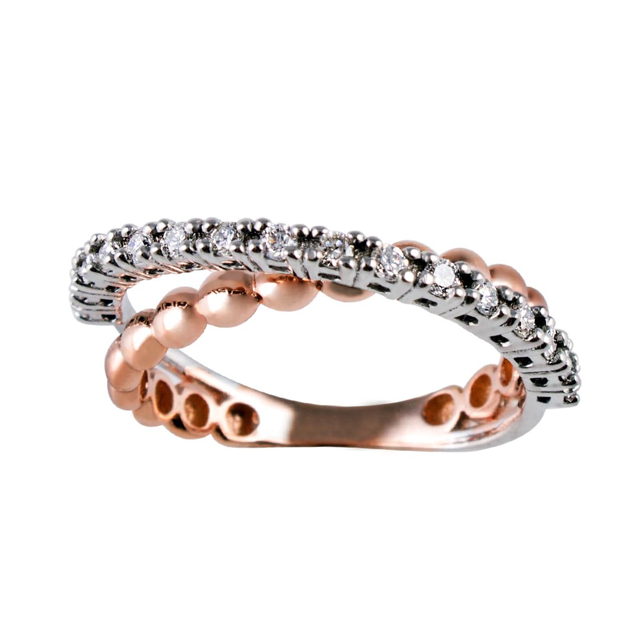 انگشتر طلا 18 عیار جواهری سون مدل 2035
