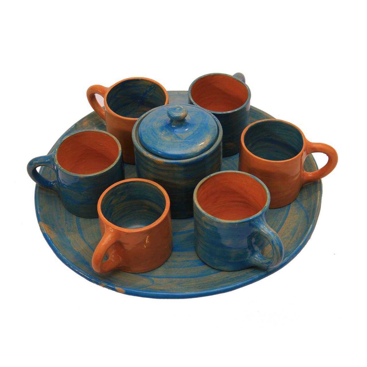 ست چای خوری سفالی کد 20285 6 نفره