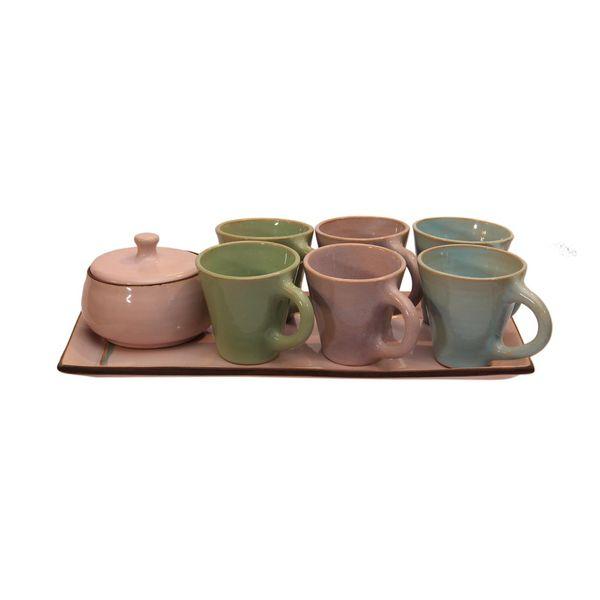 ست چای خوری سفالی کد 20286 6 نفره