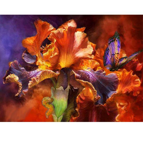 تابلو شاسی گالری هنرآرا طرح گل و پروانه  کد 11101