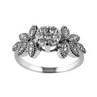 انگشتر نقره زنانه,انگشتر نقره زنانه جواهری سون