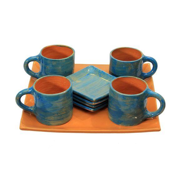 ست چای خوری سفالی کد 20295 4 نفره