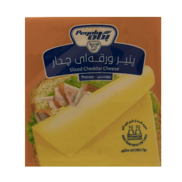 پنیر ورقه ای چدار پگاه مقدار 180 گرم