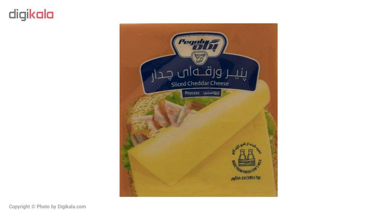 پنیر ورقه ای چدار پگاه مقدار 180 گرم main 1 1